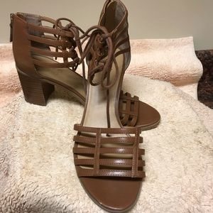 Franco Sarto Henrika Caged ZIP Up Sandals 9.M